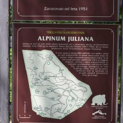 Alpinum Juliana botanic garden sign