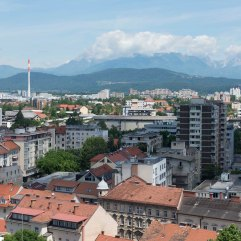 Ljubljana towards mountains