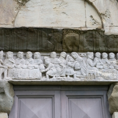 Barga Cathedral Miracle of St Nicholas carving