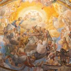 Lucca cathedral ceiling fresco